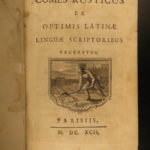 1692 Comes Rusticus Latin Poetry Country Life Illustrated Gardens CATO Rustica