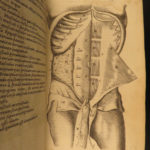 1673 Human Anatomy Medicine Surgery Illustrated William Harvey Blood Bartholin