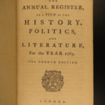 1763 American Colonies MAPS Annual Register INDIAN Pontiacs Wars FAMED 1776 ed