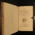 1788 Life of Frederick II of Prussia Germany WARS Austria Politics 4v Laveaux