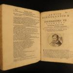 1666 Lives of Popes 200 PORTRAITS Platina Catholic Sacchi Italian Panvinio