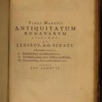 1663 ROME Rosinus Romanarum Antiquitatum Constantine Julius Caesar Plato Pliny