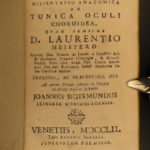 1752 1st ed Optical Medicine & Surgery EYES Heister Human Anatomy Ophthalmology