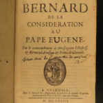 1673 CRUSADES Apology Bernard Clairvaux Considerations Pope Eugene III Knights