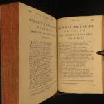 1728 1ed GREEK Poetry Hesiod Theocritus Phocylides Pythagoras Greek & Latin