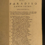1793 DANTE Divine Comedy Italian + JESUIT Venturi Commentary Bembo Venice 3v