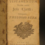 1726 BIBLE Theodore Beza Huguenot Latin New Testament Protestant Reformation