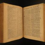 1674 Holy BIBLE Biblia Sacra Vulgate Latin Sixtus V Clement VIII Lyon Valfray