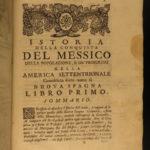 1733 1ed Spanish Conquest of Mexico Solis Aztec Hernan Cortes Montezuma Salazar