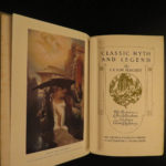 1912 Myths & Legends Fantasy Celtic Britain KNIGHTS Chivalry Occult Teutons 6v