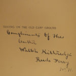 1891 CUSTER Indian Wars era Tenting Old Camp Ground Kittredge Civil War Songs