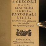 1685 Pope Gregory I Pastoral Care Catholic Church Clergy Duties Vatican Fricx