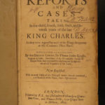 1657 1ed LAW English King Charles I England Reports Cases Thomas Hetley Lawyers