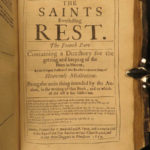 1659 PURITAN Saints Everlasting Rest HEAVEN Richard Baxter Bible Devotional