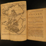 1760 Juan & Ulloa Scientific Voyages to South America GOLD MINING Incan PERU 2v