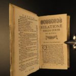 1664 Gregorio Leti Court of ROME Catholic Church Papacy BANNED Sestini de Camera
