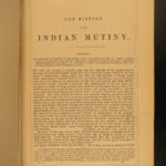1858 History of Indian Sepoy Mutiny British East India Company Illustrated 2v
