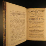 1658 Puritan Paul Baynes Bible Commentary on Ephesians Cotton Mather Influence