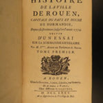 1775 History of ROUEN France Normandy Antoine Servin French Politics Travel 2v