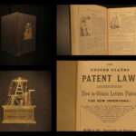 1871 Patent LAW Instruction Manual Inventions Steam Engine United States SCIENCE