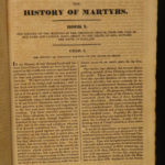 1830 John Foxe's Book of Martyrs Acts & Monuments Malham Martyrology Foxe 2v in1