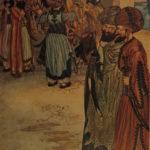 1920 Arabian Nights Ali Baba Aladdin Sinbad Color Illustrated Folkard FAMOUS ART