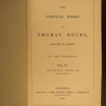 1840 BEAUTIFUL Thomas Moore Irish Poems Ireland Lalla Rookh GOLD GILT 10v SET