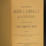 1882 MORMON Journal of Heber Kimball Missionary LDS Joseph Smith Nauvoo Demons