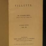 1853 1ed Villette by Charlotte Bronte Feminism Gender Roles Belgium Currer Bell