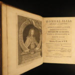 1729 1st ed Homer ODYSSEY & ILIAD Greek Mythology Samuel Clarke Latin Greek 4v