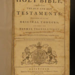 1793 RARE Scottish Holy Bible Edinburgh Scotland Kerr KJV English King James
