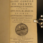 1686 Council of Trent Catholic Church Popes Paul III Canon Law Chanut RARE
