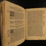 1580 Saint Bonaventure on Peter Lombard Sentences Augustine Monk Rocca Vellum