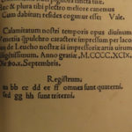 1499 INCUNABLE Martin Luther Reformation Mantuanus Calamitatibus Heretics Heresy