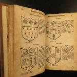 1677 1ed Antiquities of EXETER England Devon Devonshire MAP Coats-of-Arms Izacke