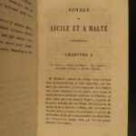 1855 Voyages in Sicily & Malta Patrick Brydone Italy Geography Mt Etna BINDING