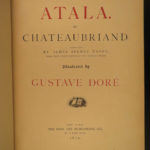 1879 Atala by Chateaubriand Gustave DORE Art Illustrated Native American Indians