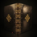 1887 EXQUISITE Catholic Church Bible Prayers Jesuit Hymns FINE BINDING Hours