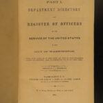 1861 Washington DC MAP US 36th Congress Directory America Politics Civil War