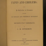 1888 Charles Spurgeon Types & Emblems Puritan Baptist Night Sermons Tabernacle
