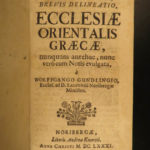 1681 1ed Greek Orthodox Zialowski Byzantine Voyage PERSIA Egypt Athanasian Creed