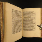 1499 INCUNABLE Italian Renaissance Mantuanus Poems Somnium Sanseverino RARE