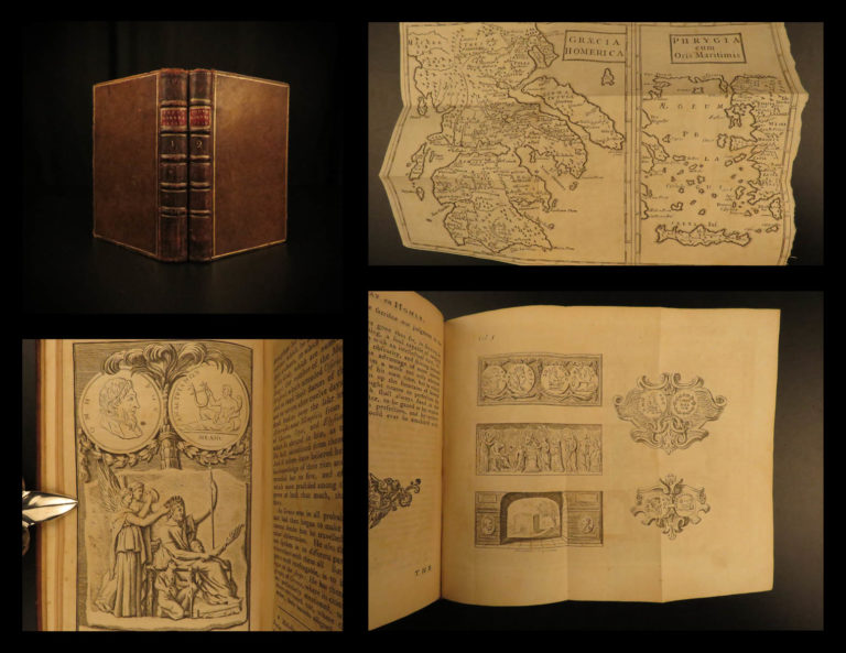 Image of 1756 Homer Iliad Greek Mythology English Alexander Pope Illustrated MAPS Troy