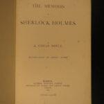 1894 1st ed Memoirs of Sherlock Holmes Arthur Conan Doyle Illustrated Mystery