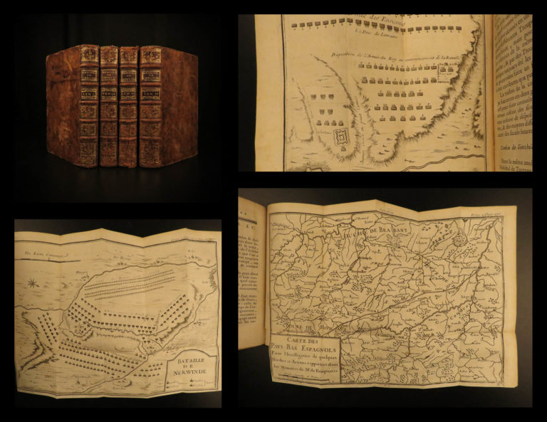 Image of 1750 Memoires Marquis de Feuquiere French Military Tactics MAPS Nine Years WAR