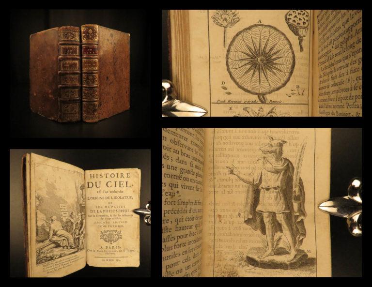 Image of 1740 Occult Astronomy Astrology Cosmogony Egyptian Mythology Pagan 2v Pluche Sky
