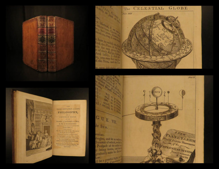 Image of 1772 Benjamin Martin Isaac Newton Philosophy Geography Science Navigation MAPS