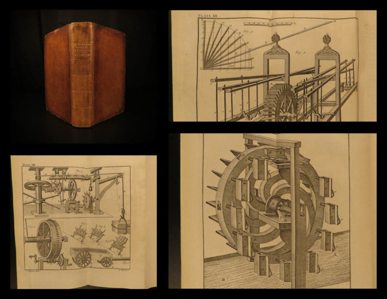 Image of 1793 James Ferguson Physics Mechanics Inventions Astronomy Isaac Newton Clocks