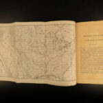 1851 Catlin INDIANS Native American Wild West Buffalo Hunting Illustrated MAPS