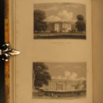 1831 Architecture Views of Mansions Castles England Illustrated Statues ART Neale